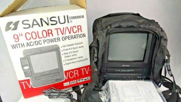 """Sansui COMO961B 9"""" TV VCR Combo"""