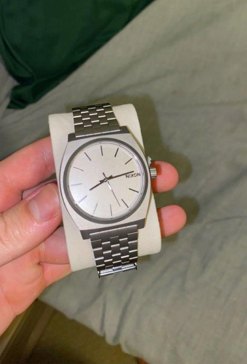 Nixon Time Teller Watch Men's Silver