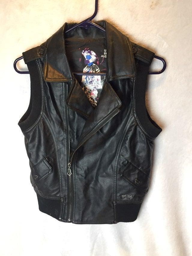 Womens Size S Fox Racing Faux Vest