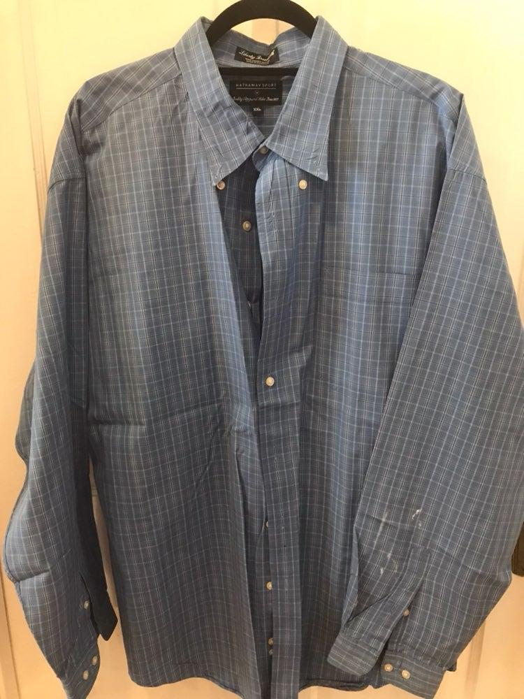 Hathaway XXL Long Sleeve Dress Shirt (Bl
