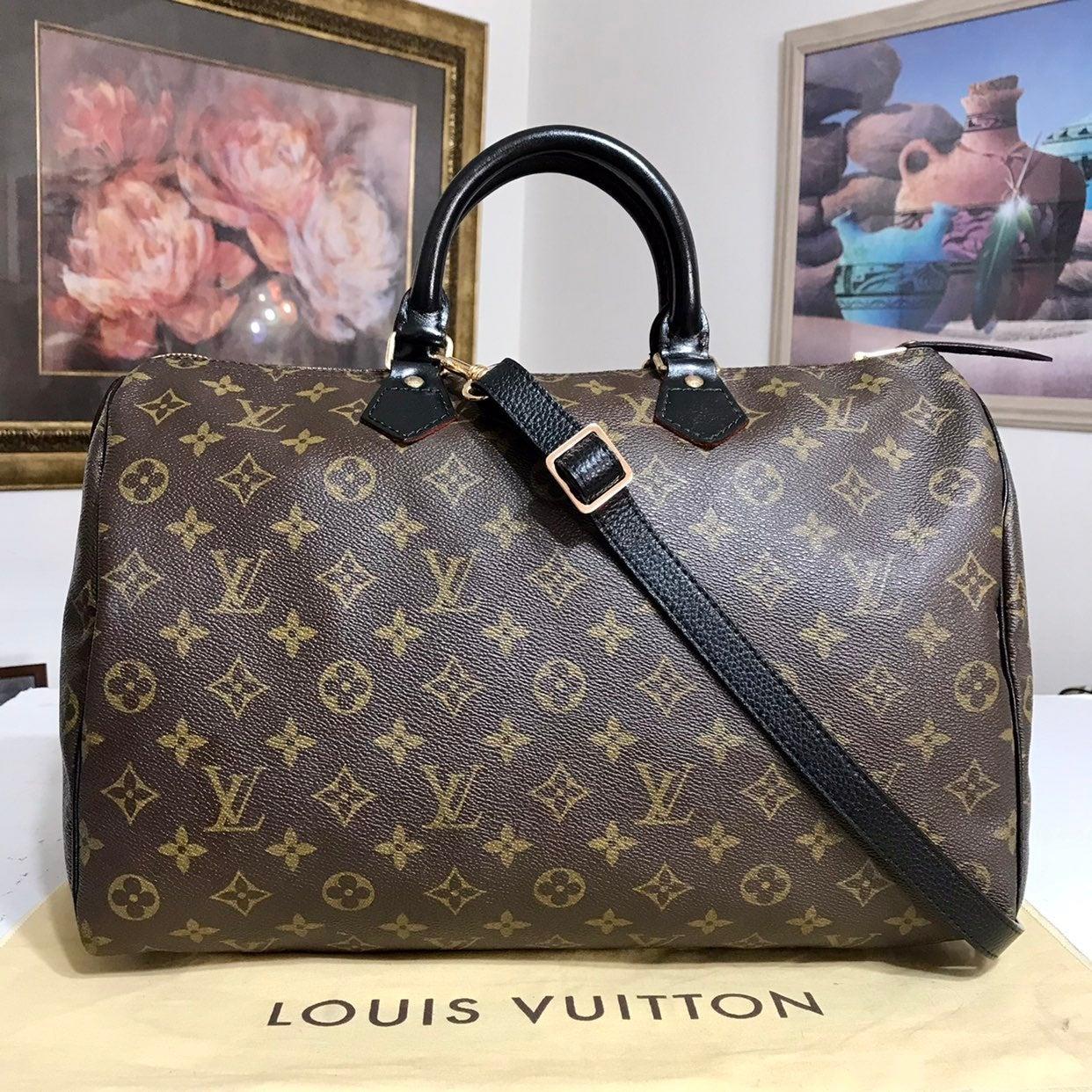 Louis Vuitton Speedy 35 Handbag-Black