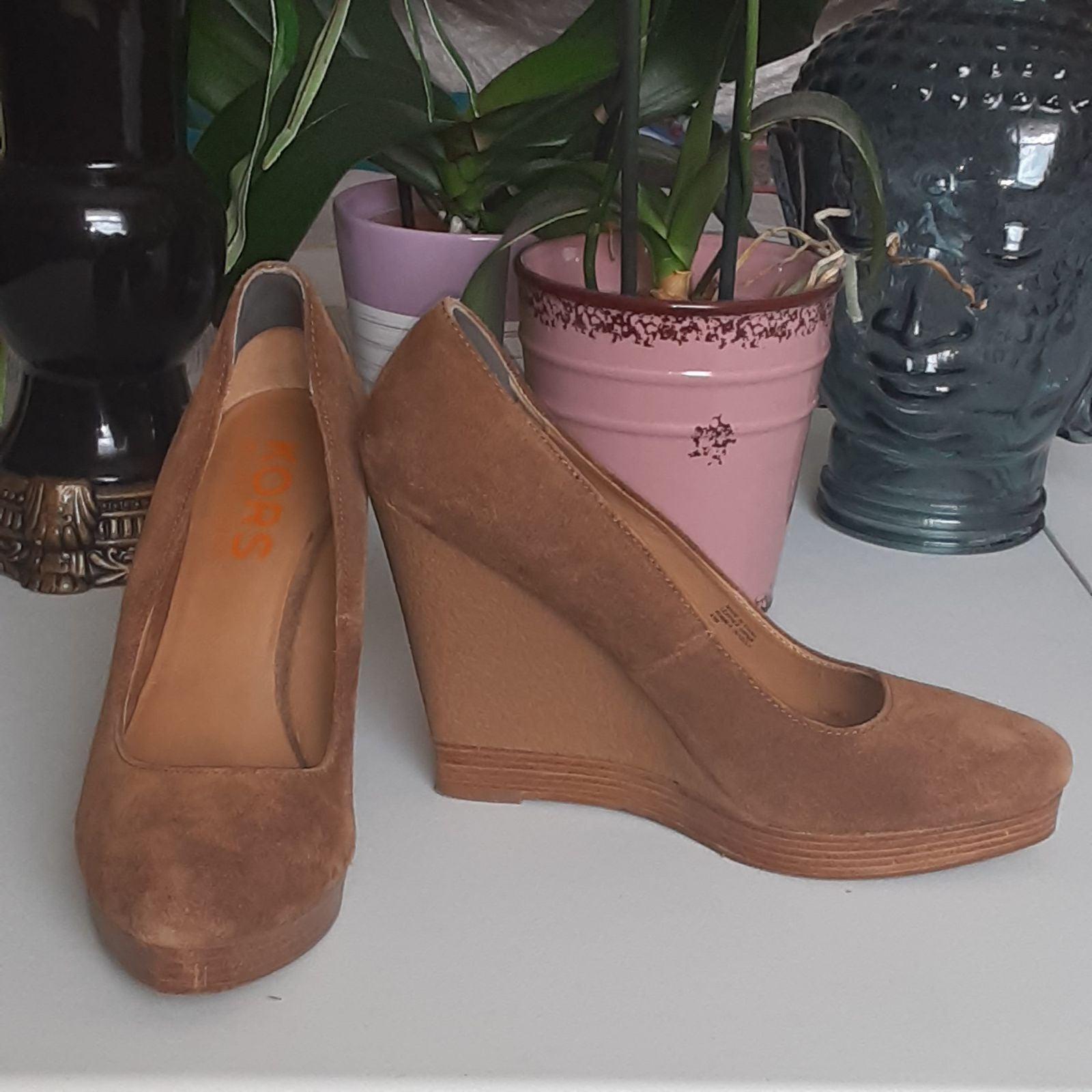 Michael Kors Suade Wedge Shoes- Woman 8.