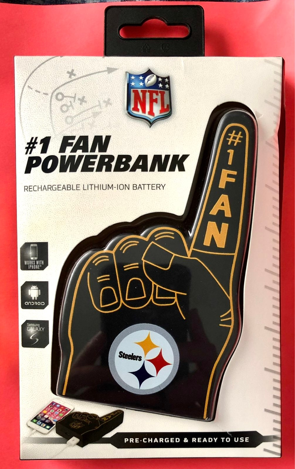 Pittsburgh Steelers powerbank charger