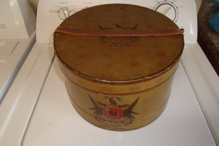 vintage mens hatbox knox leather strap