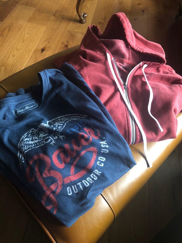 eddie bauer hoodie and shirt