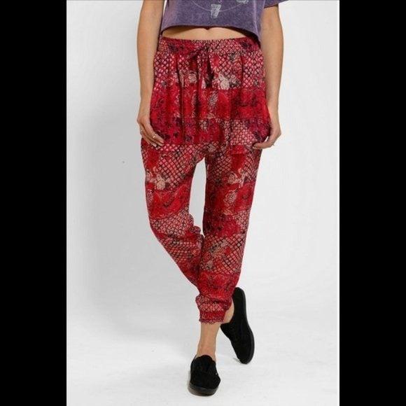 Staring at stars Red sheer Jogger pants