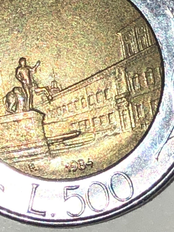 1984 L.500 Italiana coin