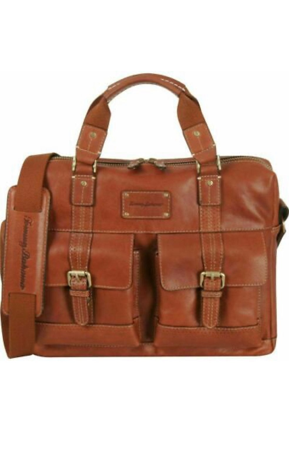 TOMMY BAHAMA BACK 9  LEATHER Briefcase