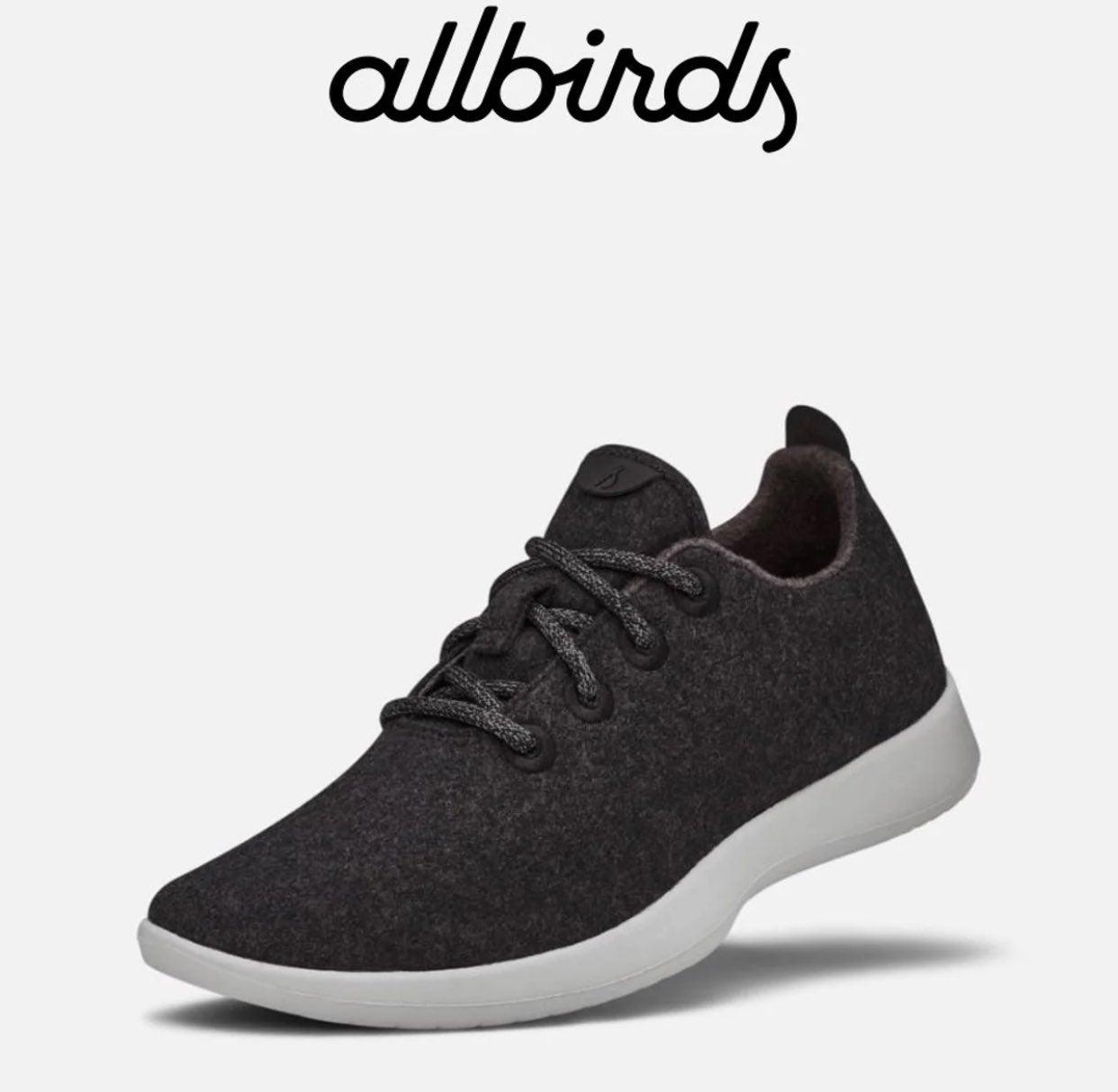 Allbirds Black And Gray Wool Runners