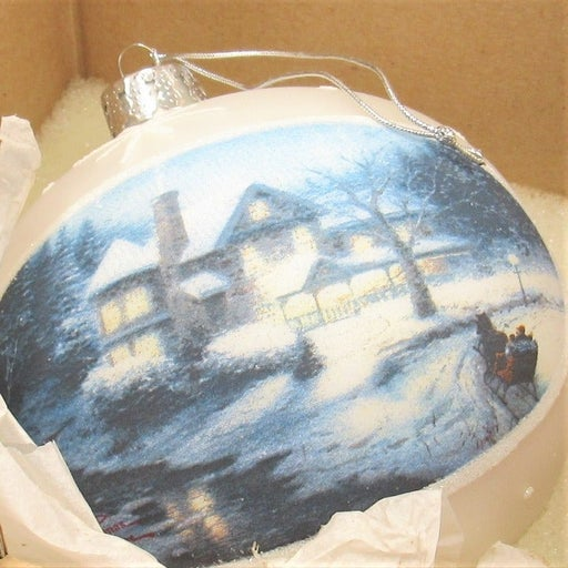MOONLIT SLEIGHRIDE ORNAMENT BY KINKADE
