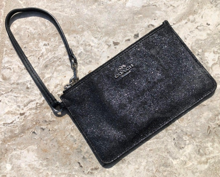 Coach Sparkly Black Wallet/Wristlet