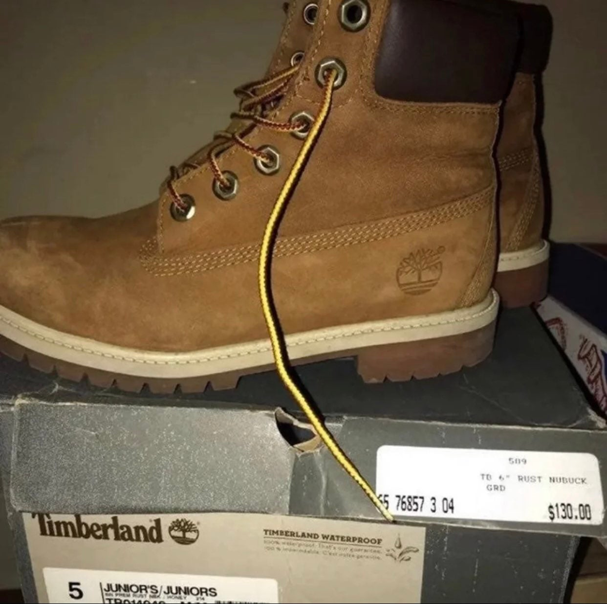 Timberland Boots youth size 5