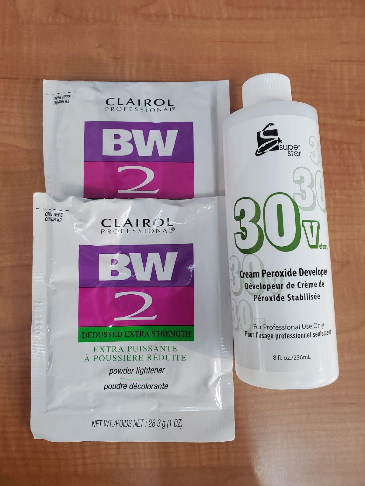 2 bw2 bleach powder and developer