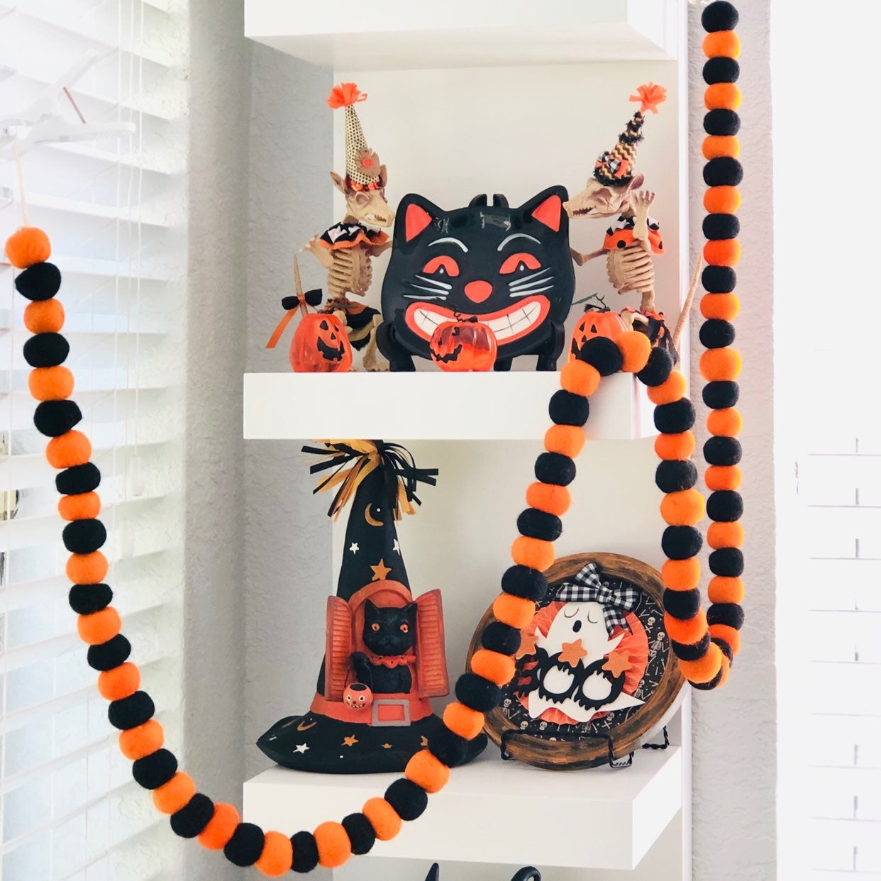 Halloween 6ft Wool Garland 4 Dunn Decor