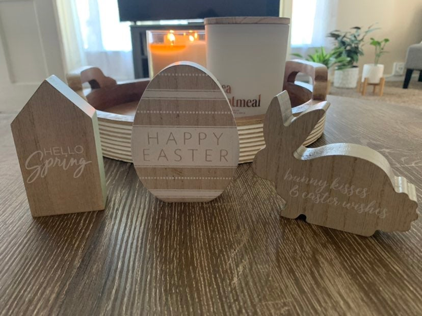 Target BP Easter Wooden Table Top Signs