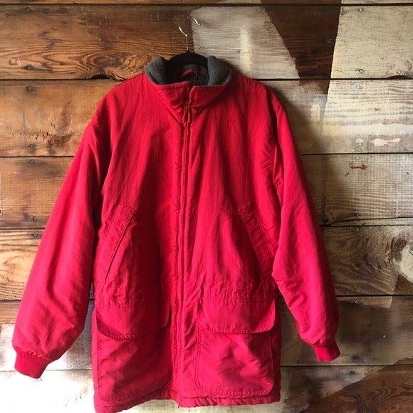 Vintage 80s 90s J. Crew Red Classic Coat
