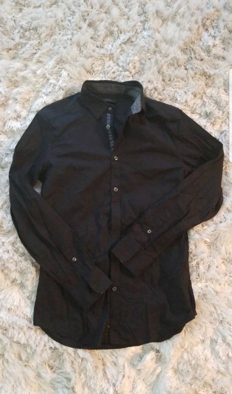 Diesel Black Button Up Shirt