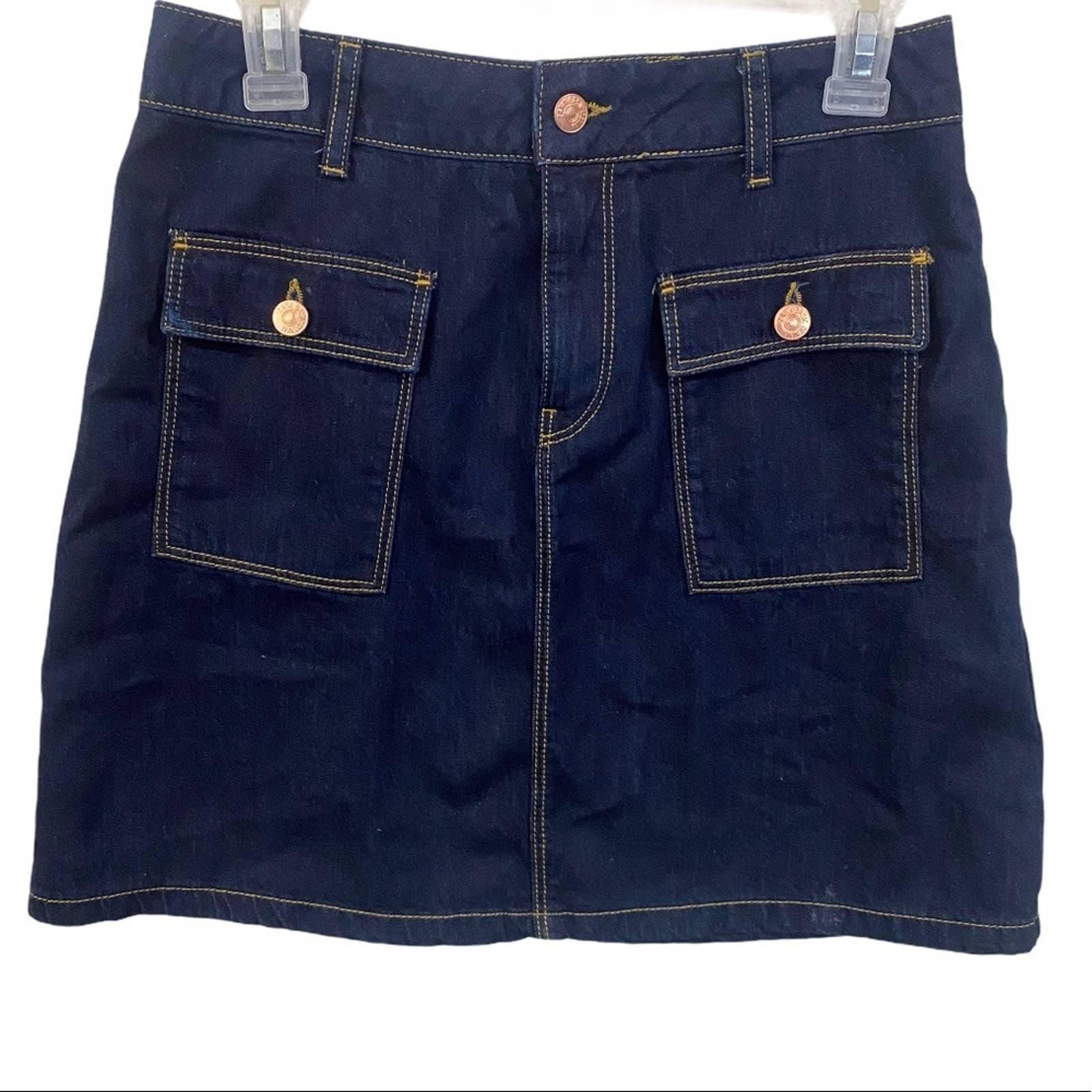 Zara pocket denim skirt size M