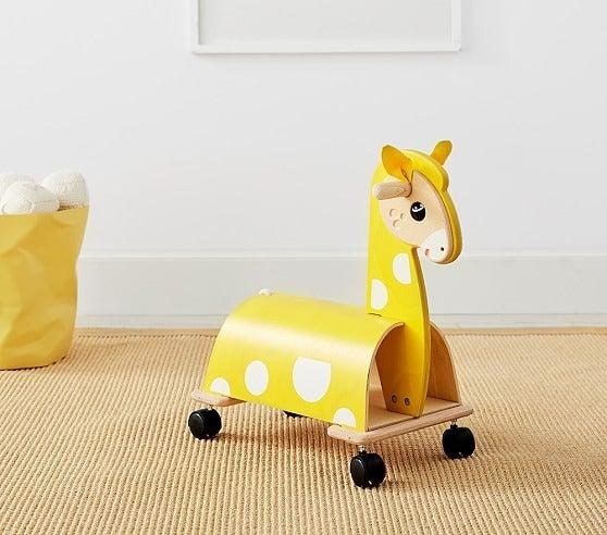 Pottery Barn Kids Giraffe Wood Ride-On