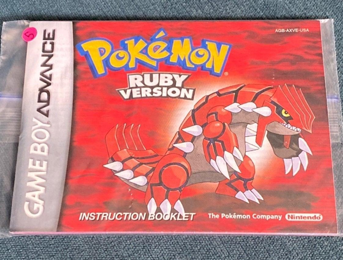 Pokemon Ruby Booklet Gameboy Advance