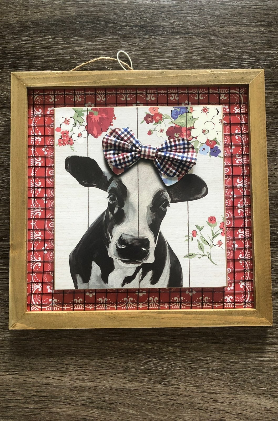 Pioneer Woman cow decor sign