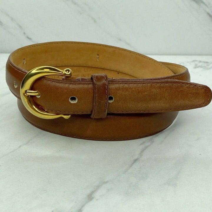 Talbots Vintage Brown Leather Belt