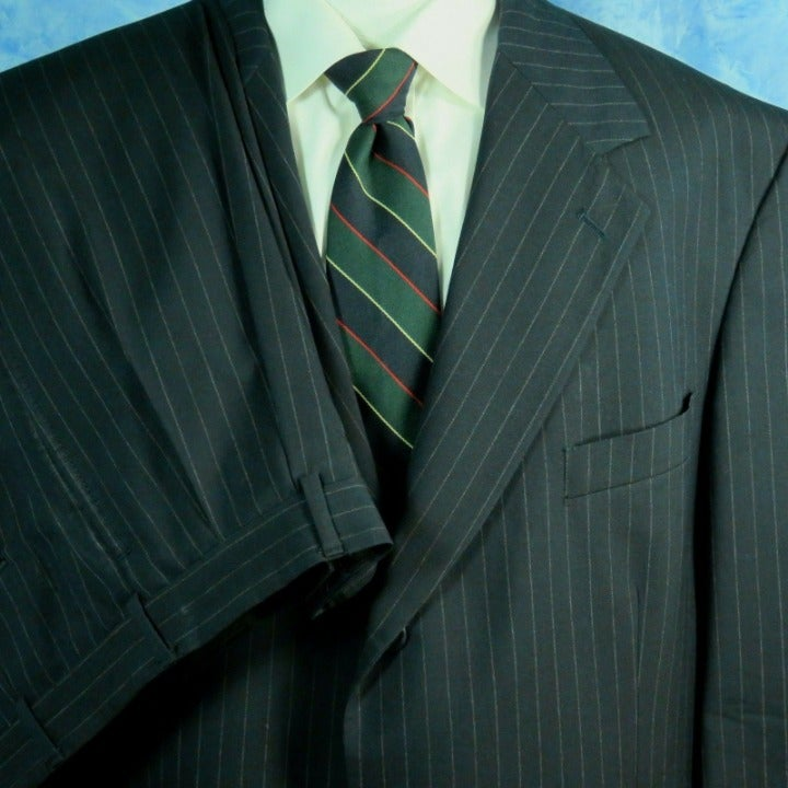 Brooks Brothers Suit 43L Pinstripe