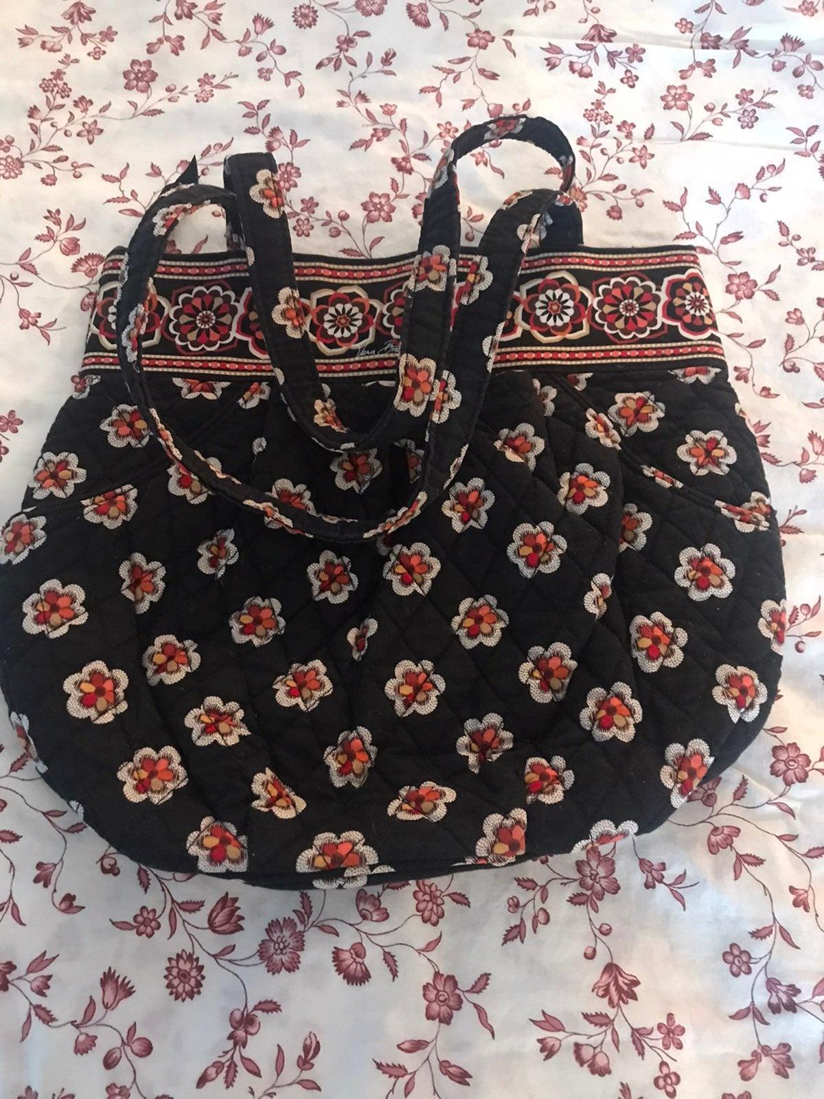 Vera Bradley Handbag Black Floral Purse