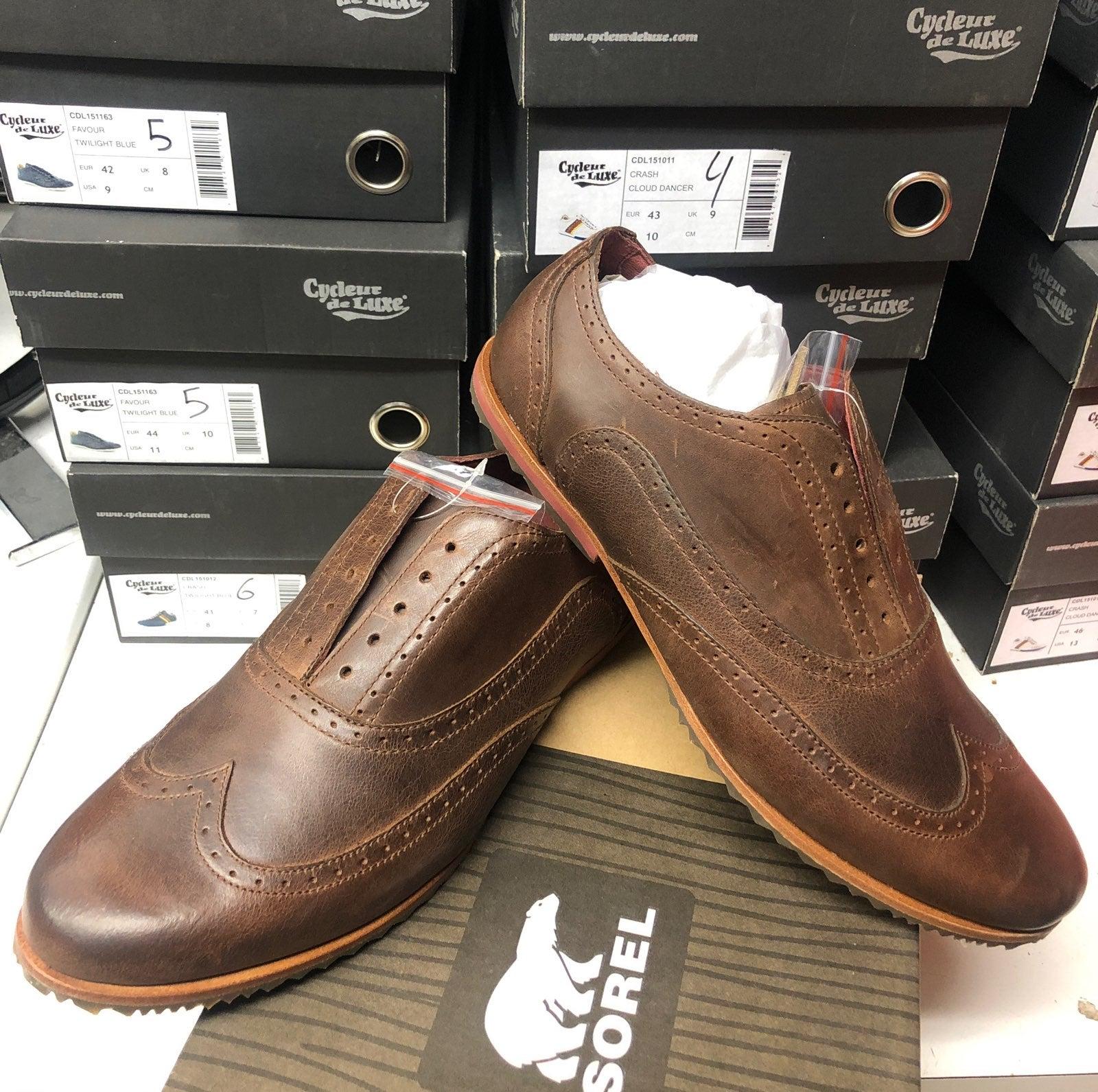 Men's Shoes SOREL brogue Brown flat shoe