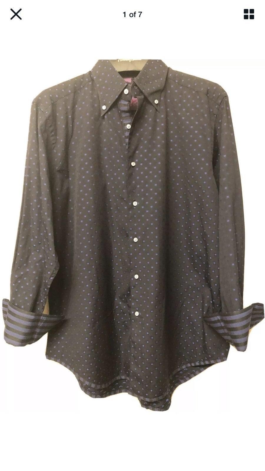 robert graham medium long sleeve black