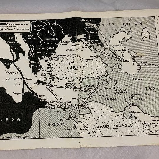 1942 WWII Era Map - Weekly News Review