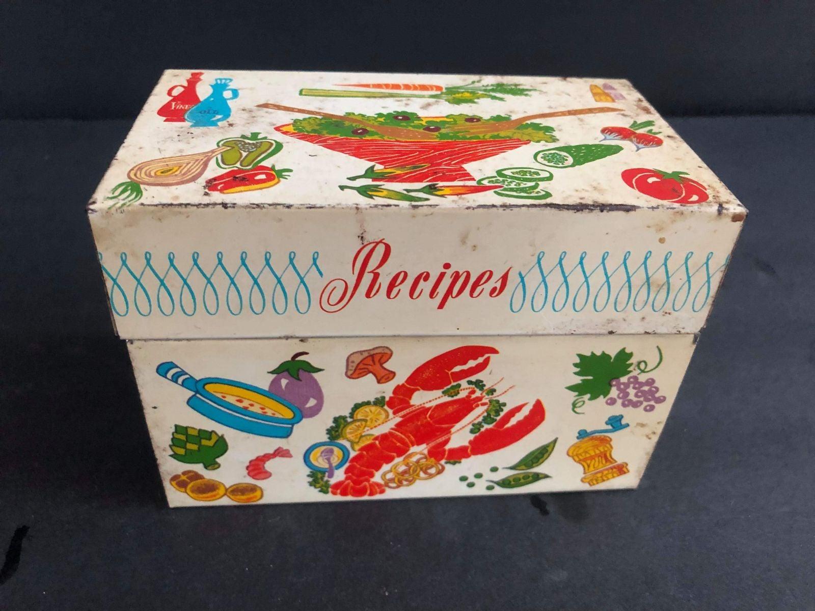 Very Loved Vintage Ohio Art Recipe Box