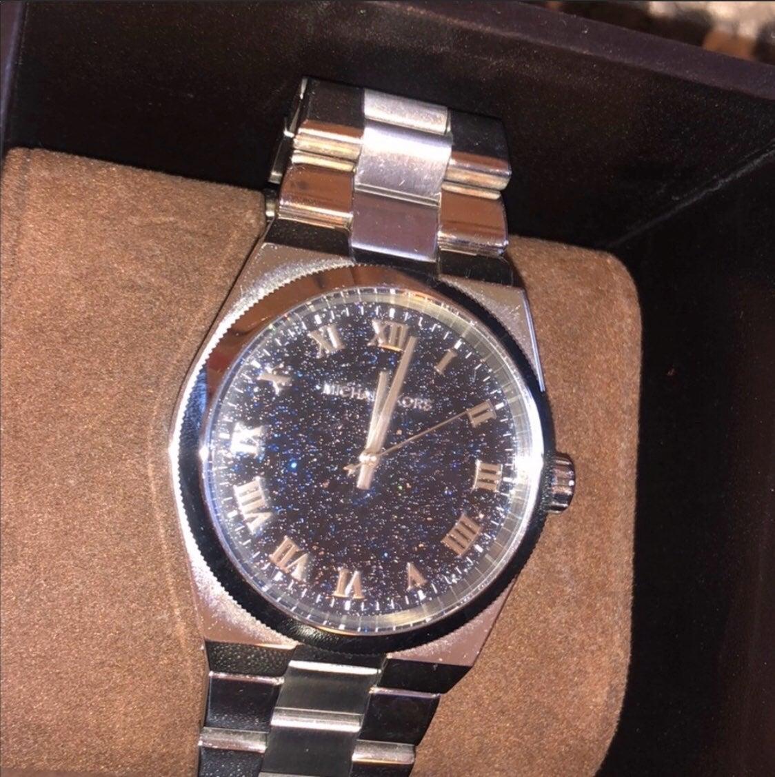 Michael Kors Silver Sparkle-face Watch