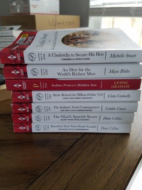 7 harlequin books