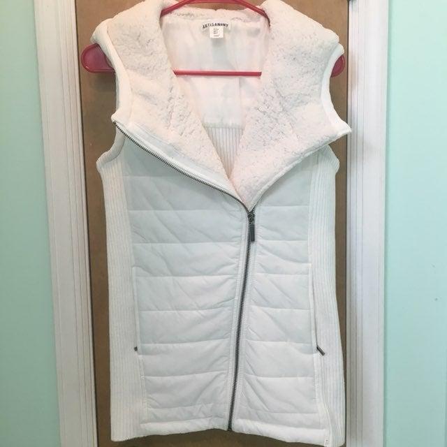 White Hooded Vest