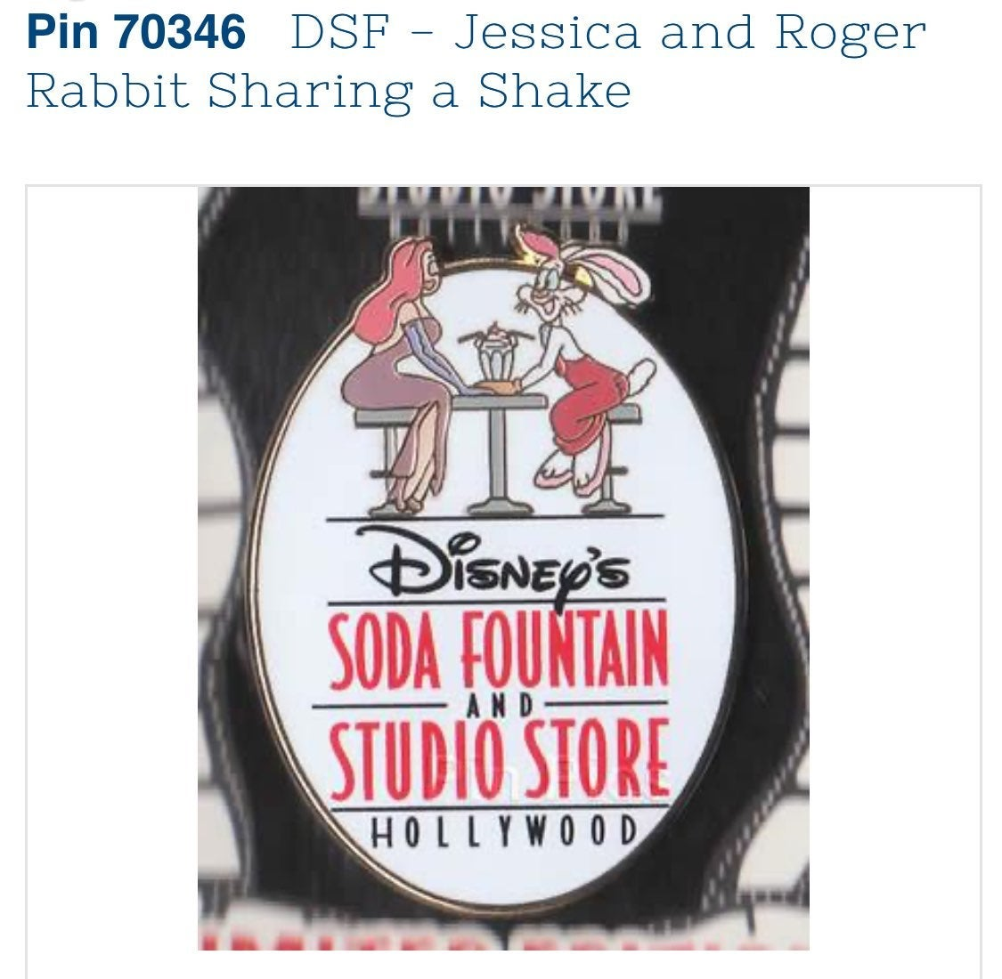 Jessica & Roger Rabbit DSF pin