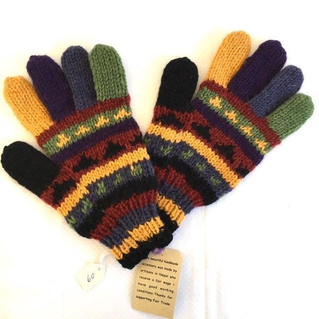 Ganesh Himal Handmade 100% Wool Gloves