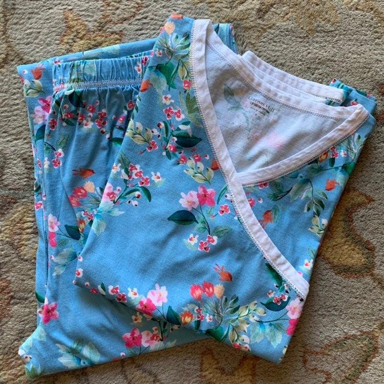 Garnet Hill Asian Wrap Pajama Set Small
