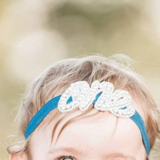 First Birthday Rhinestone Headband