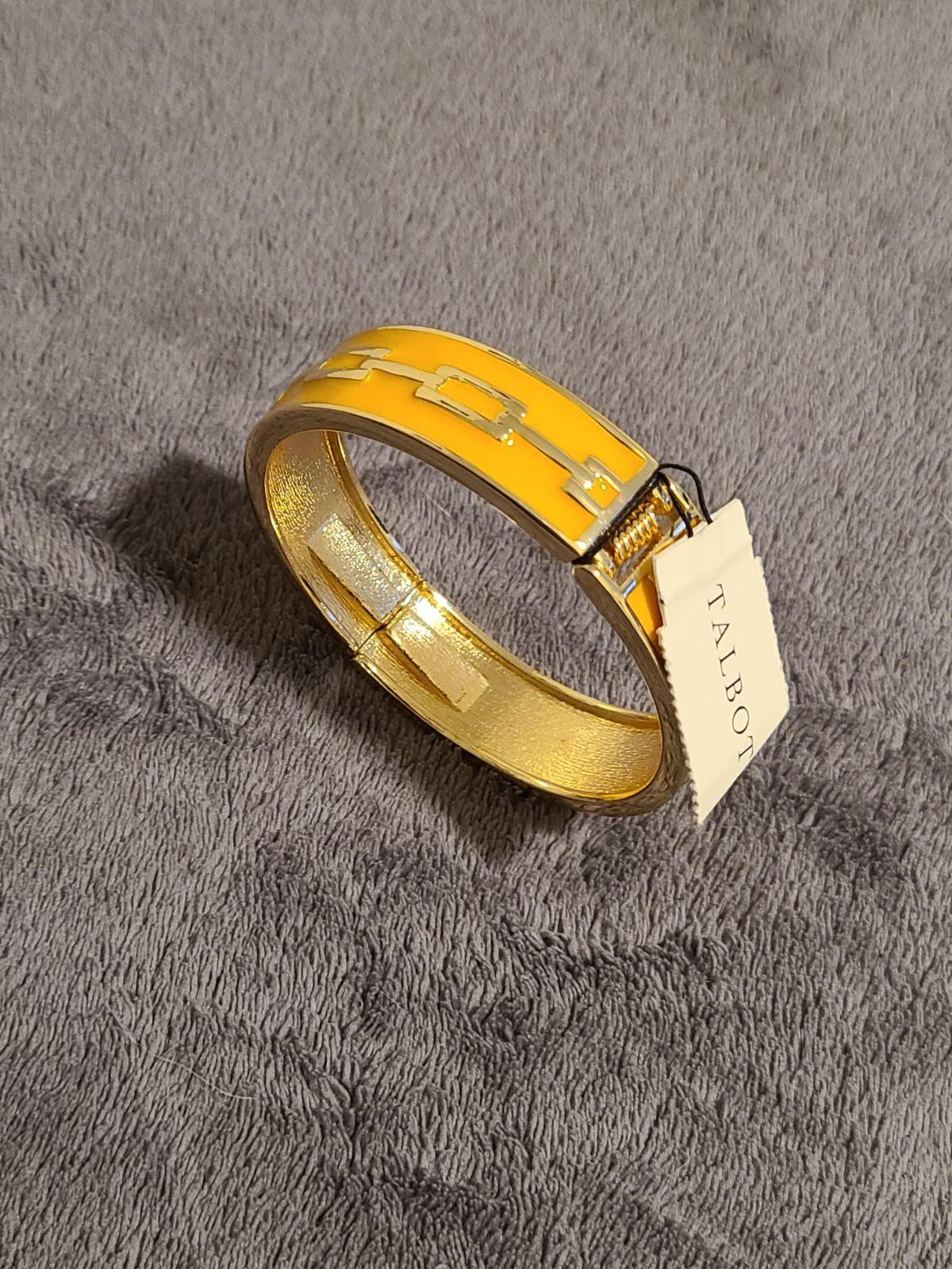 Talbot's Gold & Yellow Hinged Bracelet