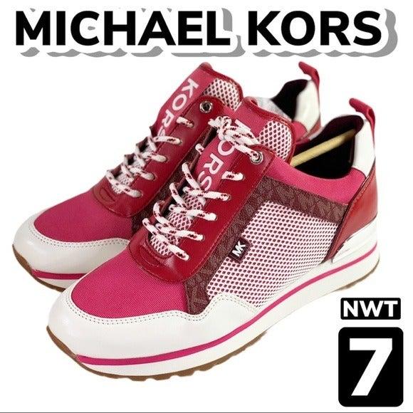 NIB Michael Kors Logo Maddy Trainers (7)