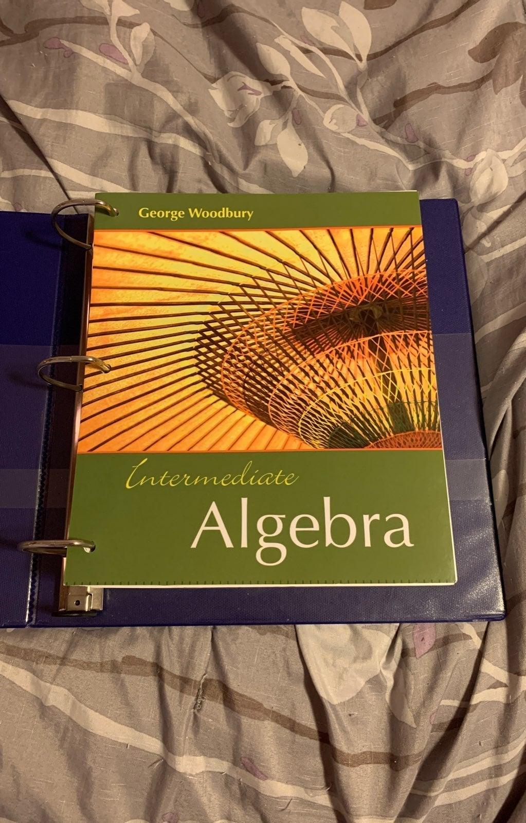 Intermediate Algebra college binder book