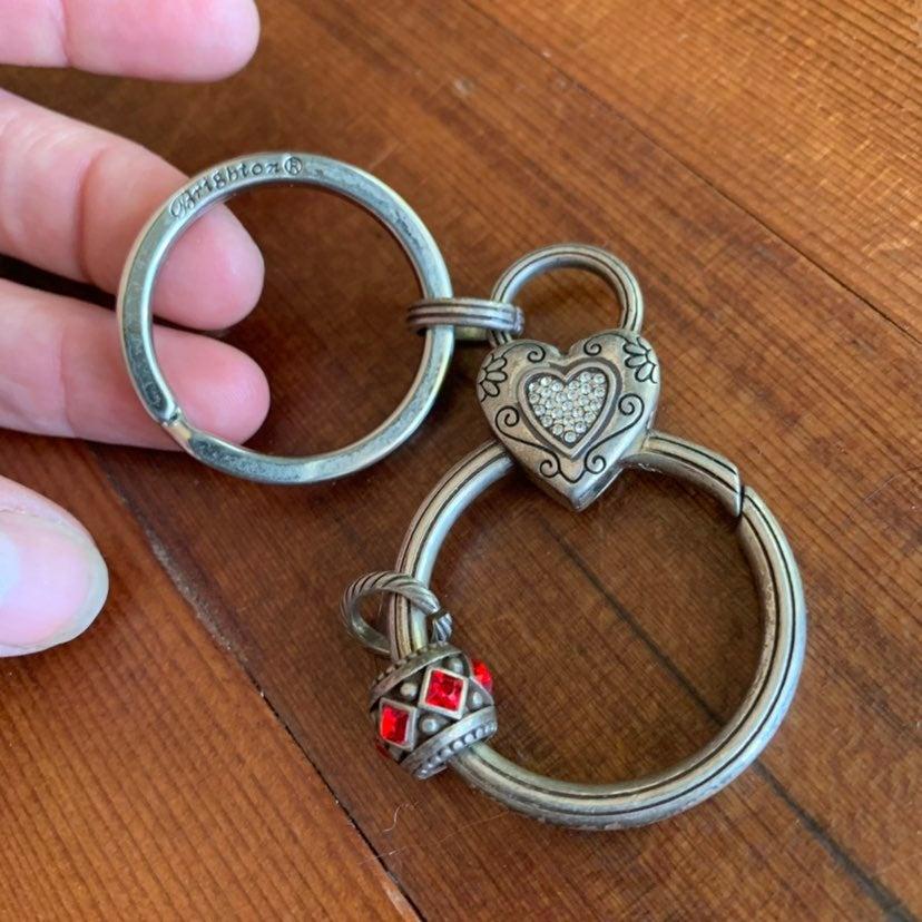 Brighton Heart Keychain bag charm clip