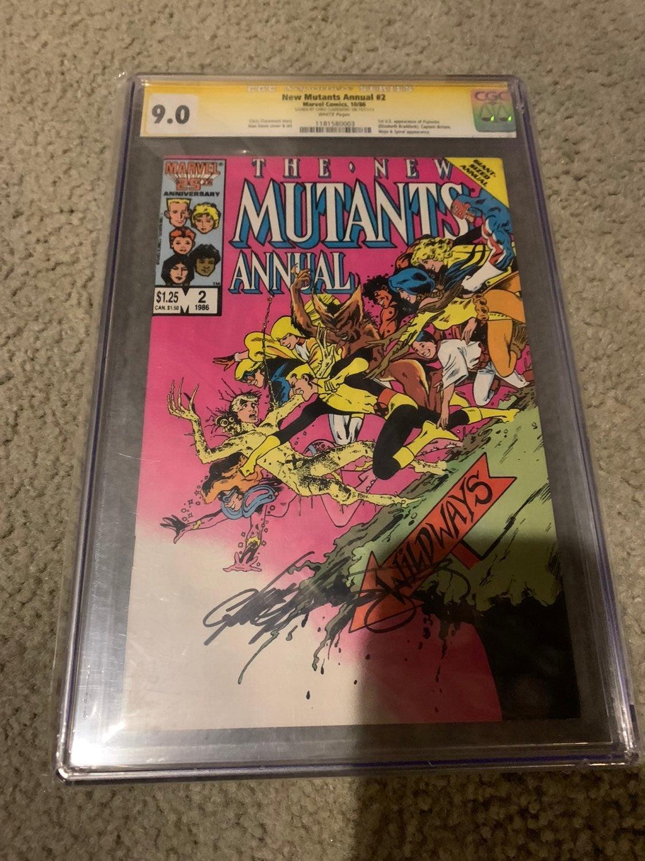 New Mutants CGC 9.0 #2 signed Claremont