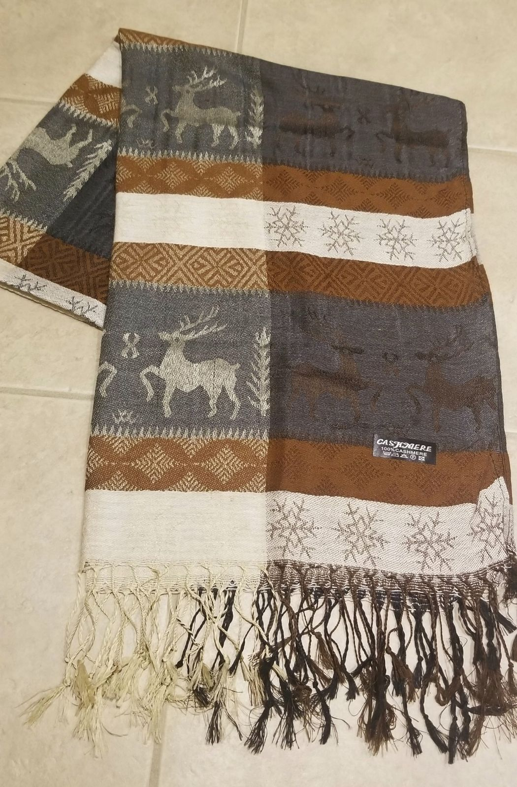 New 100% Cashmere Holy Land Scarf Jerusa
