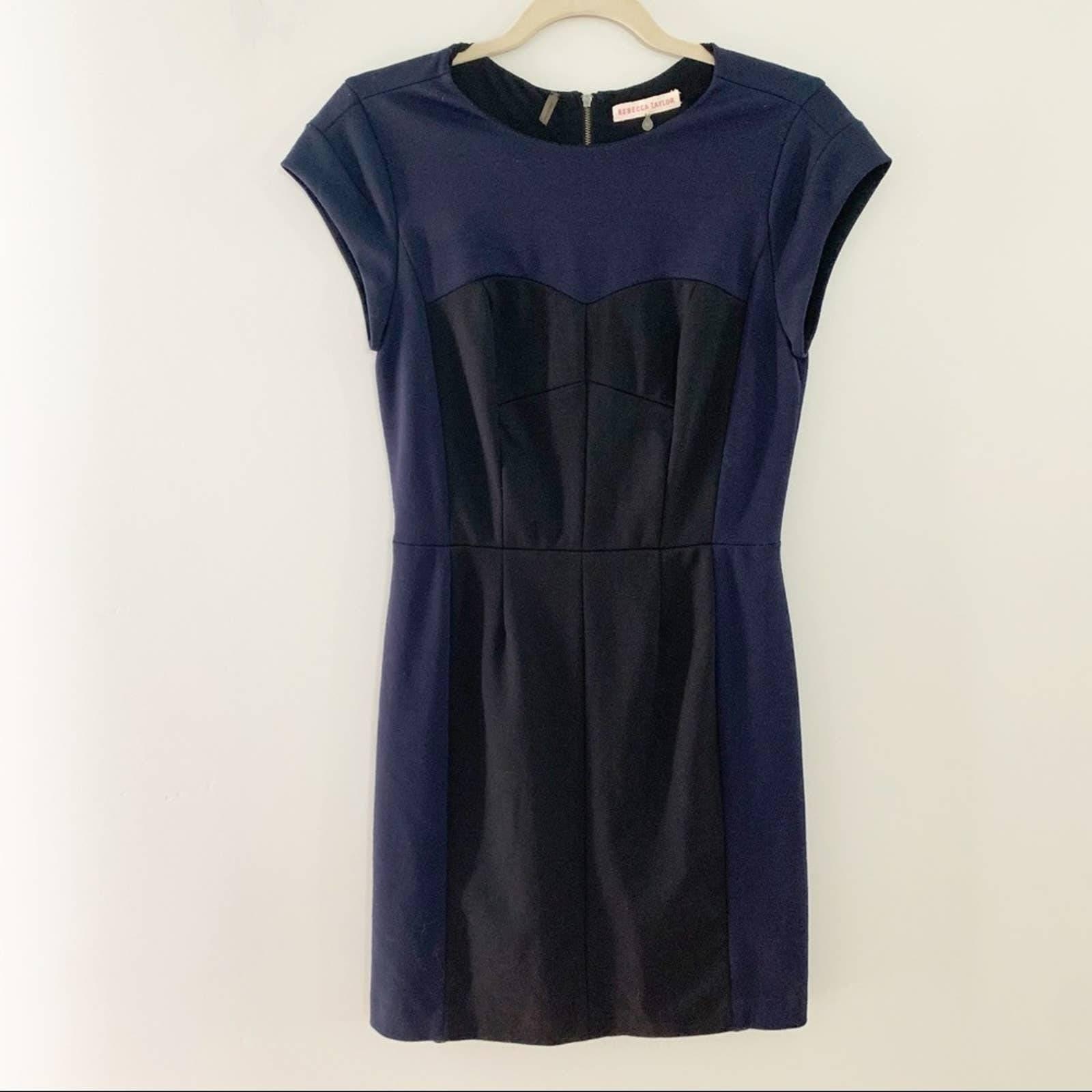 Rebecca Taylor Blue Color Block Dress