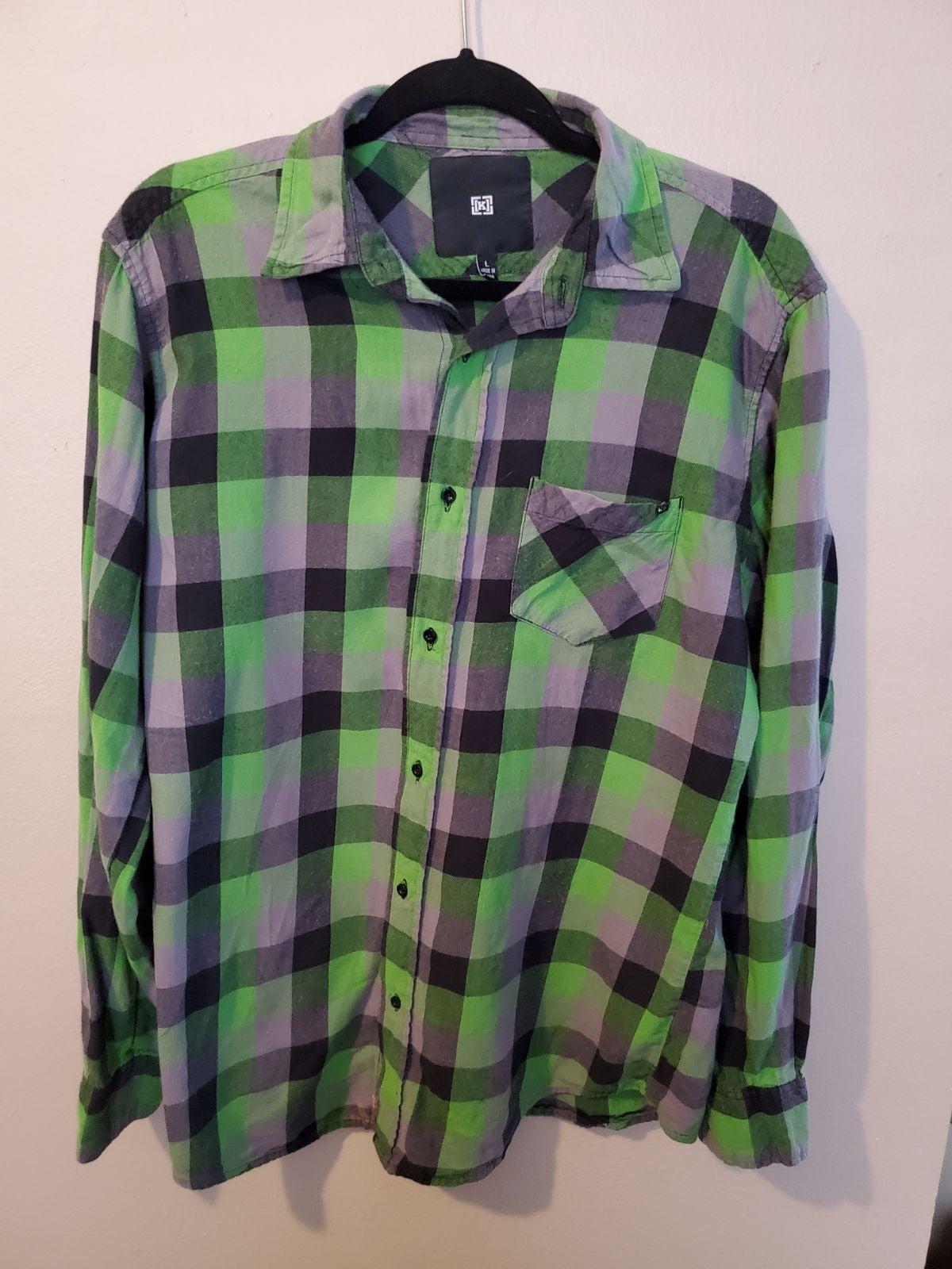 Mens green Krew plaid shirt