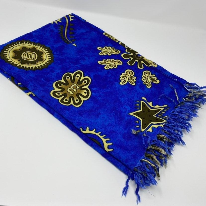 Cobalt Blue Beach Sari Wrap