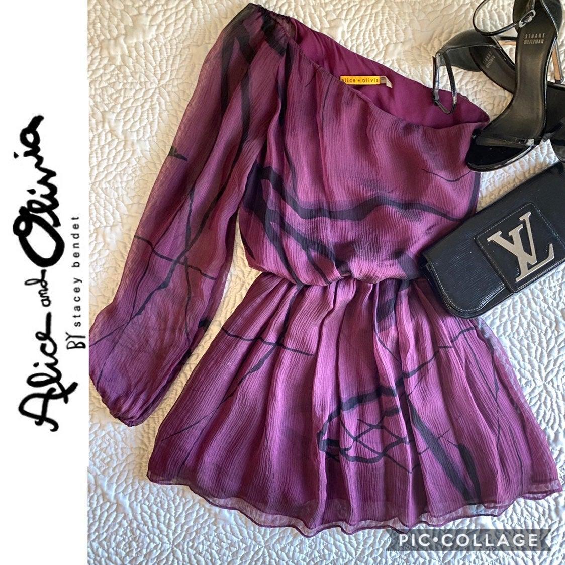 alice and olivia silk dress