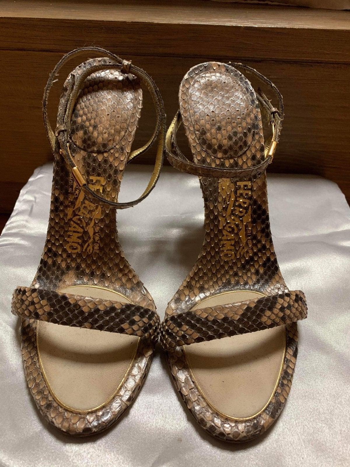 Salvatore Ferragamo Snake-Embossed Shoes